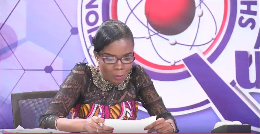 VIDEO: #NSMQ: Quiz mistress' hand bag stolen
