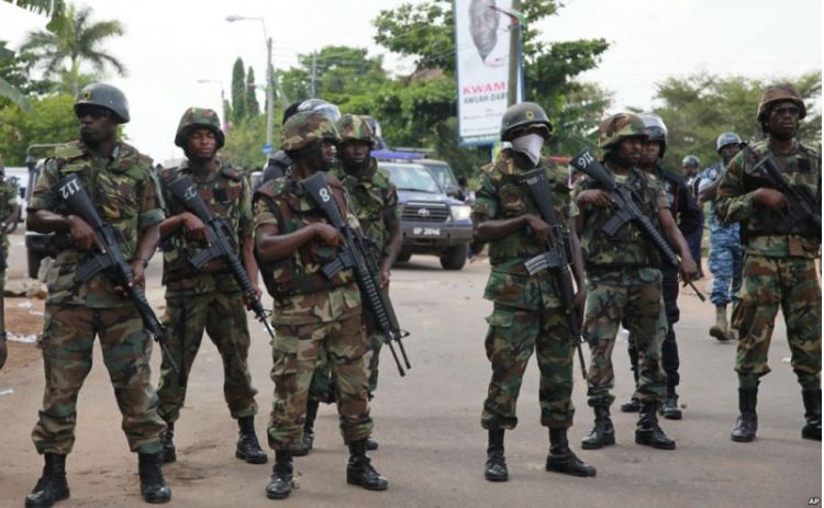 Armed police and military personnel to crush illegal miners today