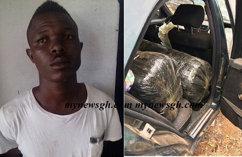 Policeman arrested with 3 sacks of 'wee'