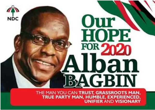 Alban Bagbin for President posters out