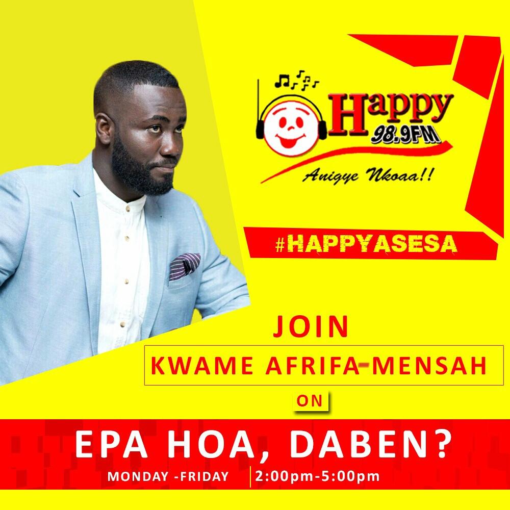 Kwame  Afrifa-Mensah Joins Happy FM