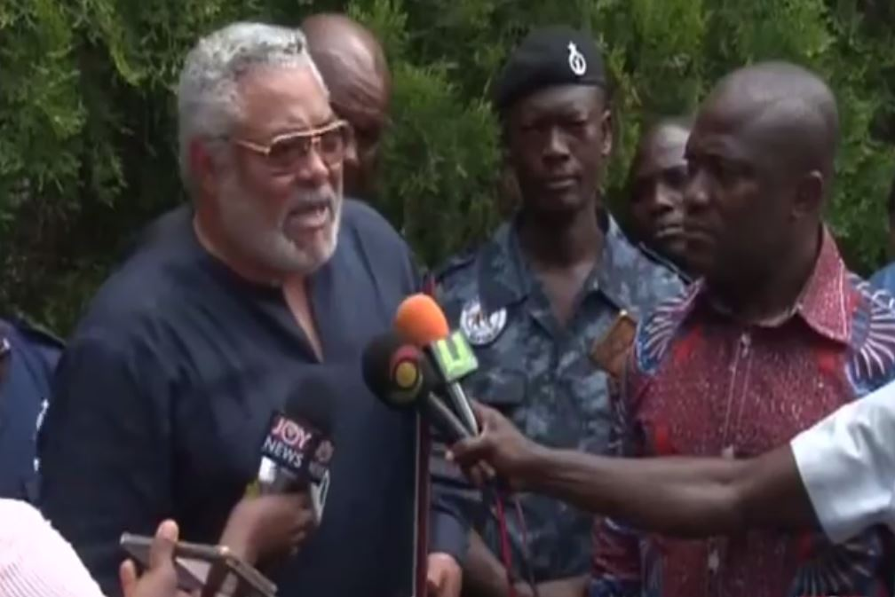 Rawlings angry over filth in Accra