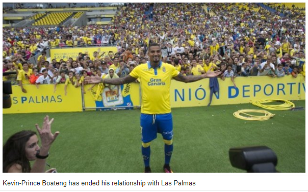 Las Palmas terminates Kevin-Prince Boateng's contract