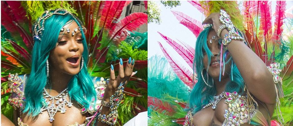 Photos:Rihanna celebrate Festival at Barbados showing off her sensational figure in revealing bikin