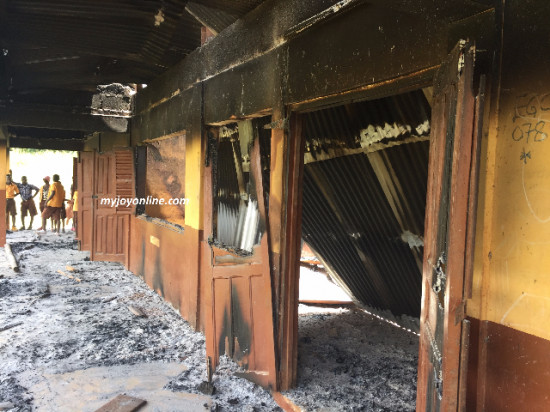 Angry JHS pupils repeated for poor performance set classrooms ablaze