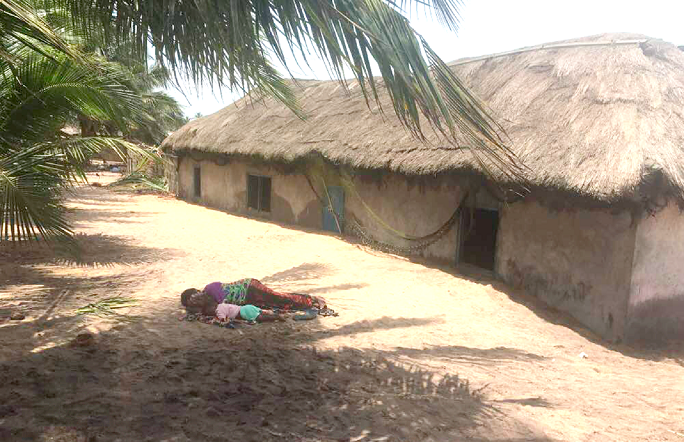 Tidal waves wreck Anlo Village in Shama