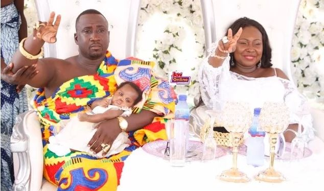 Gifty Anti gets all glammed up as she takes Princess Nyame for her first vaccination