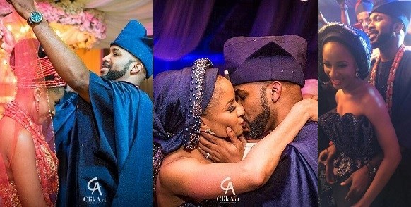 Photos & Video: Banky W & His Wife, Adesua Etomi Shared Their First 'Legal' Kiss