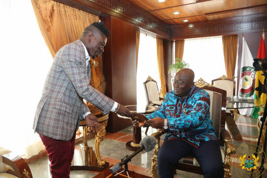 Shatta Wale finally meets Akufo-Addo