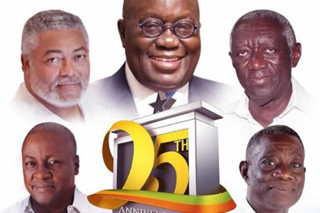 Ghana Celebrates 25th anniversary of the 4th Republic with a National Thanksgiving Service held at the Independence Sqaure