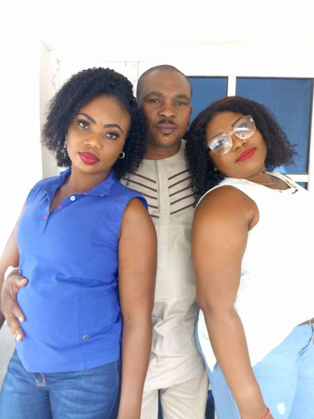Polygamous husband shows off lovely wives, thanks God for happy union