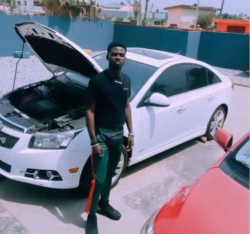 Kuami Eugene shows off his brand new car