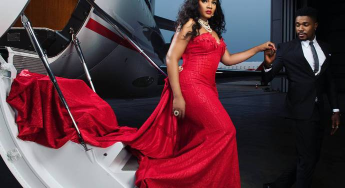 #Omotola4point0 is about be lit! Omotola Jalade-Ekeinde is Hot in Red
