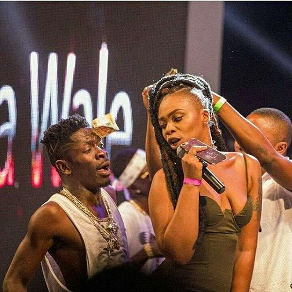 Your baby mama's breasts like '1993 Opel seat belt' - Woman jabs Shatta Wale