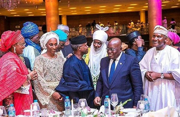 Photos: Akufo-Addo, Bill Gates, others attend Dangote's daughter's wedding