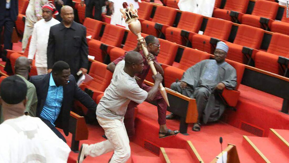 Intruders steal Nigeria parliament's mace