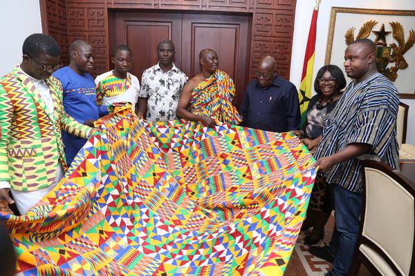 Kente weavers name new design after President Akufo-Addo