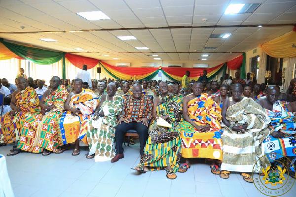 Western region to get massive developments - Akufo-Addo assures Chiefs