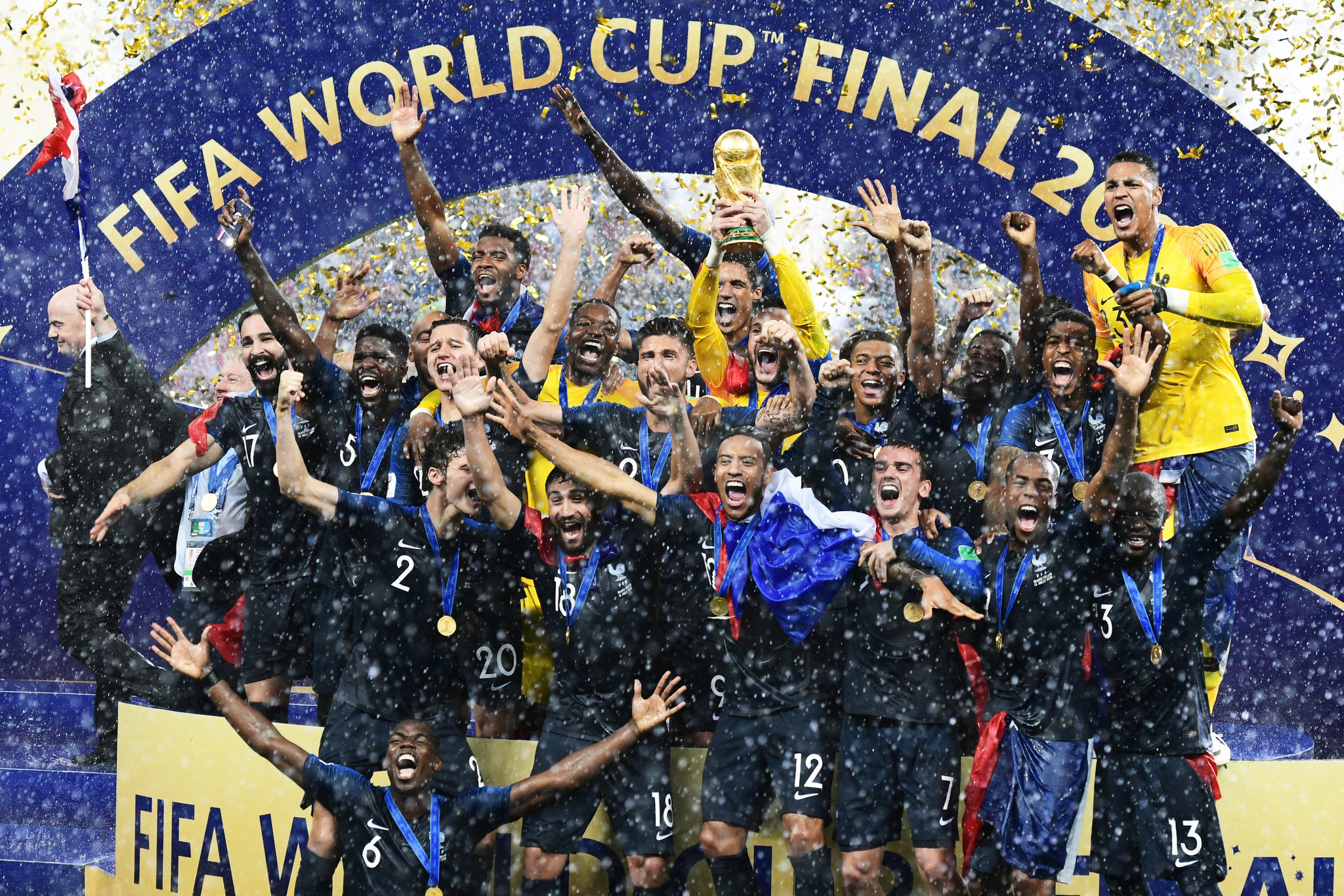 France goes Home with the World Cup After Winning the FIFA world Cup Final 2018.