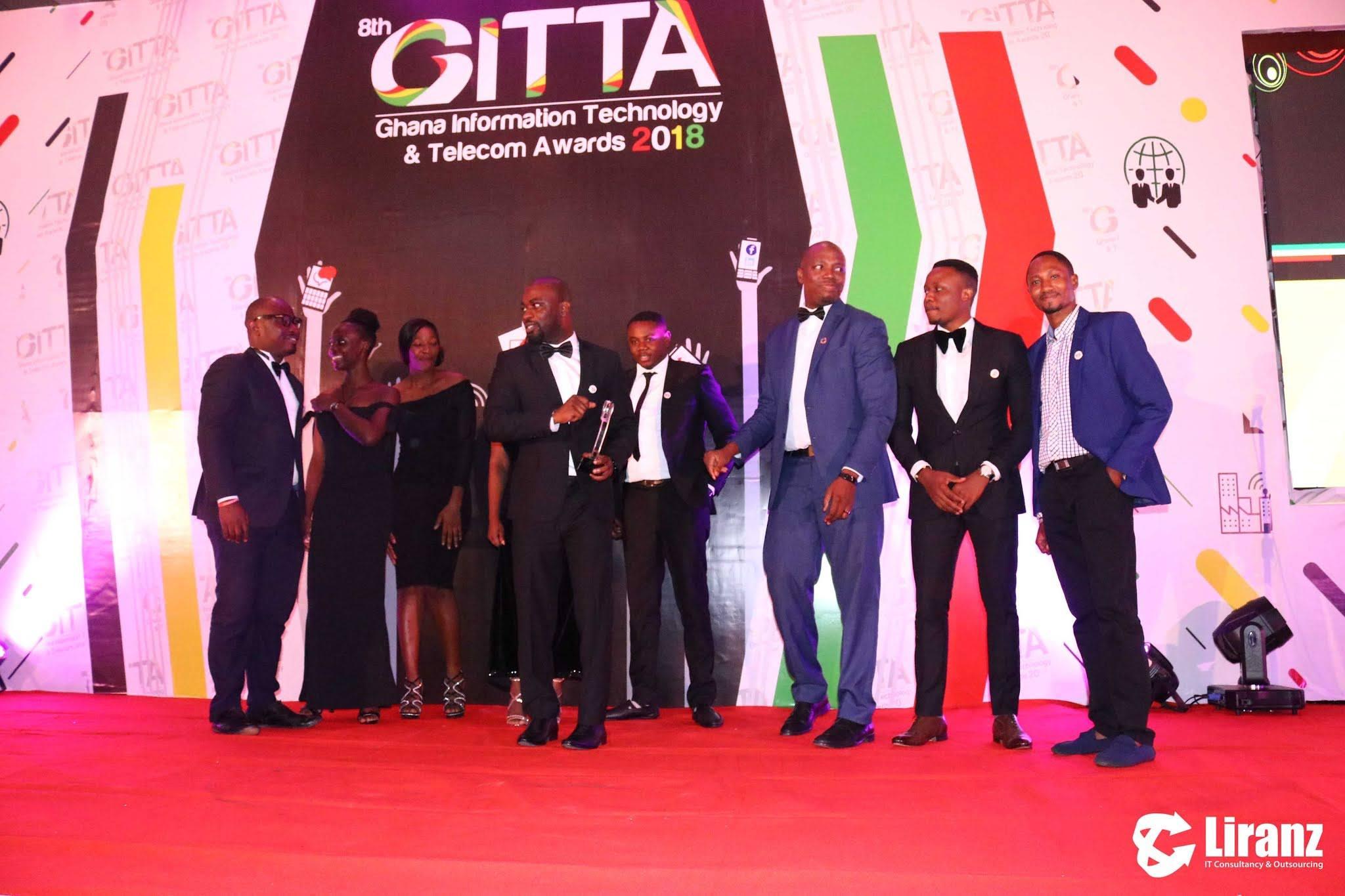 Liranz wins double at the 8th Ghana Information Technology and Telecom Awards (GITTA) 2018