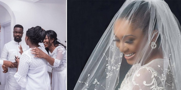 Photos: First Photos of Sarkodie and Tracy at their White Wedding.