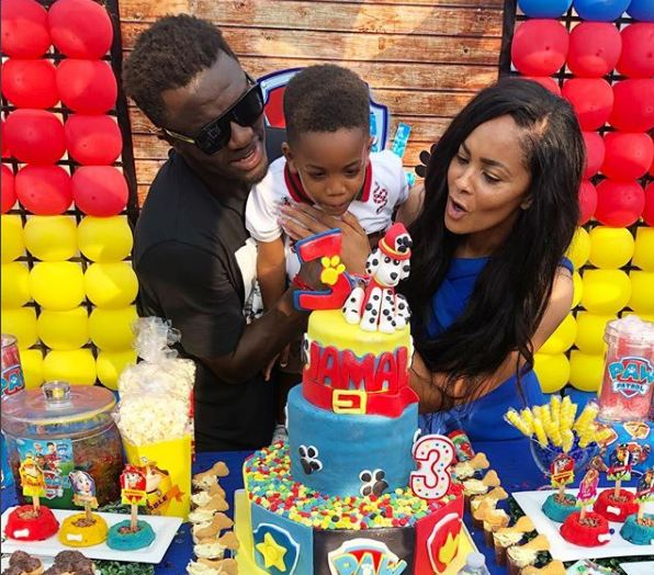 Photos: The son of Muntari Jamal Muntari turns 3 years old