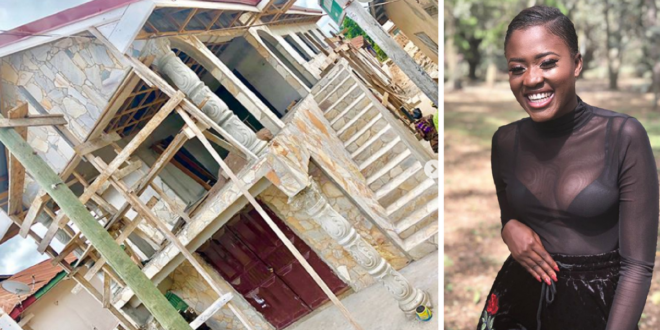 Fella Makafui share photos a house she is building for her mother