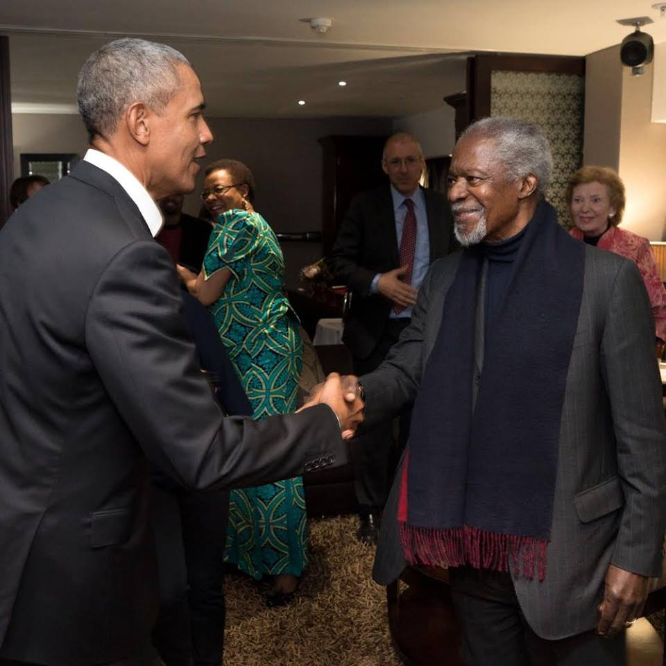 Former US president Mr. Obama pays tribute to Kofi Annan