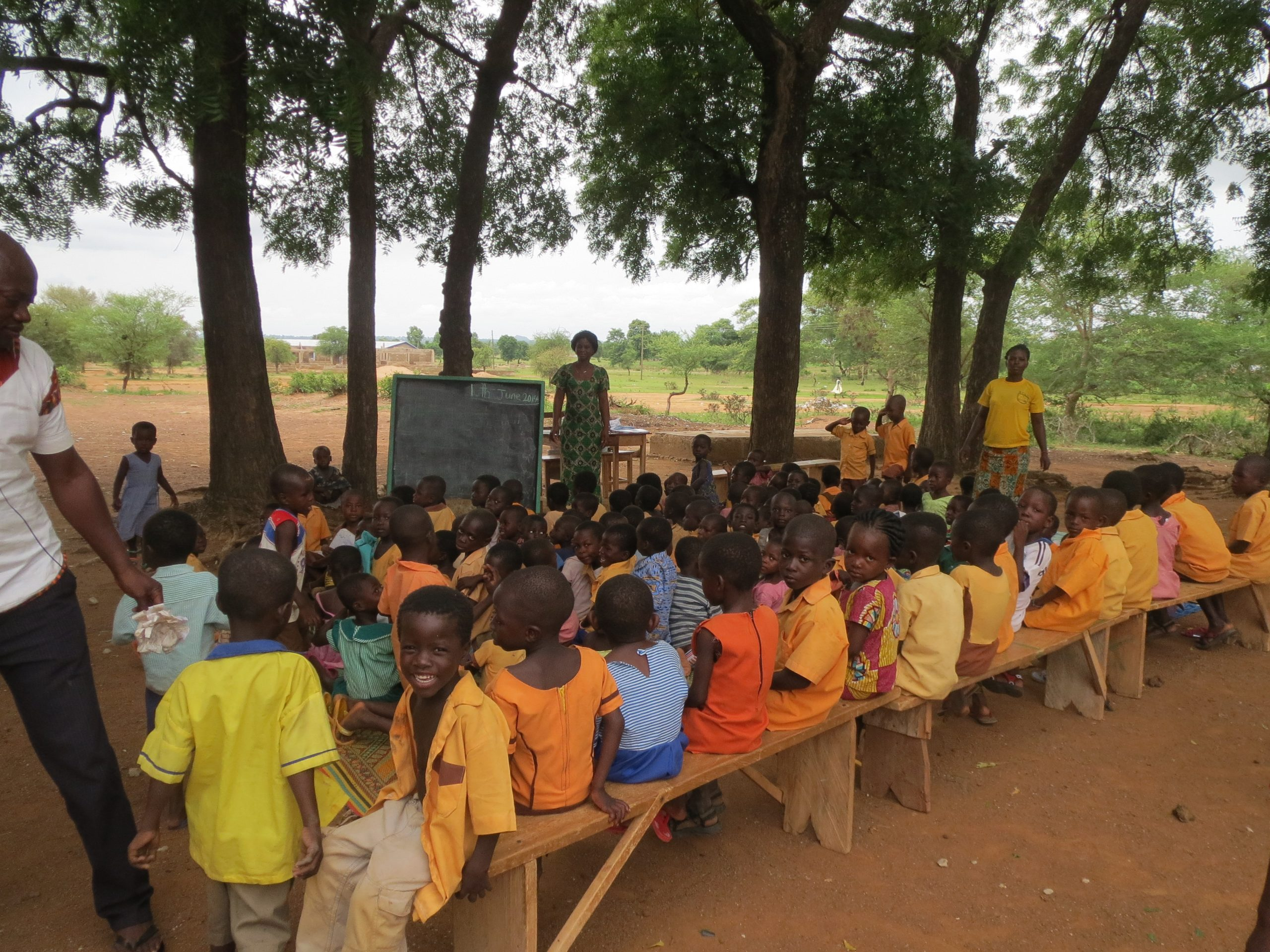 Teong School under trees saved by McDan