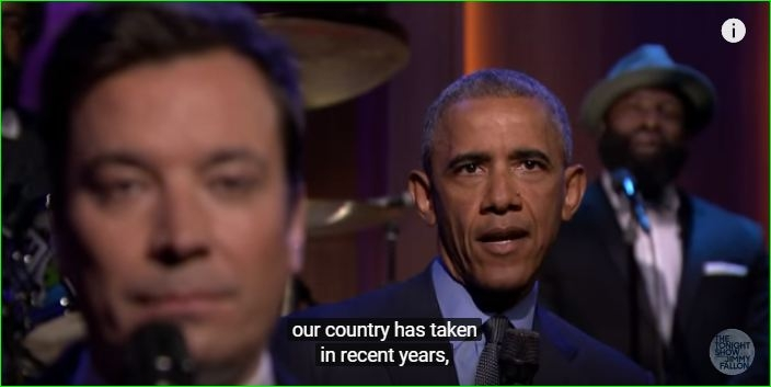 "Watch President Obama Sing Rihanna's ""Work"""