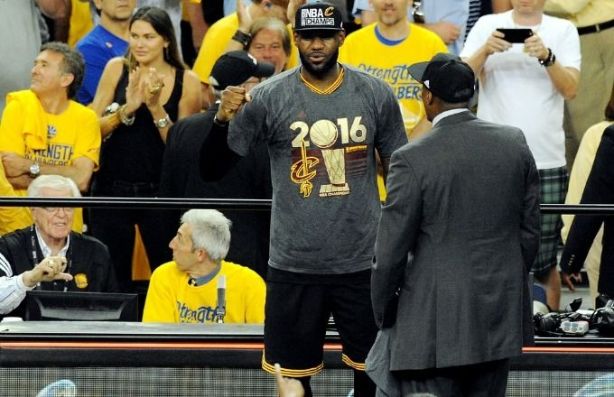 LeBron James' Emotional Interview After the Cavaliers Won the Title