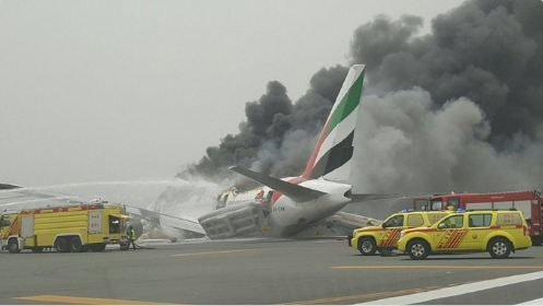 Emirates plane crash-lands at Dubai airport