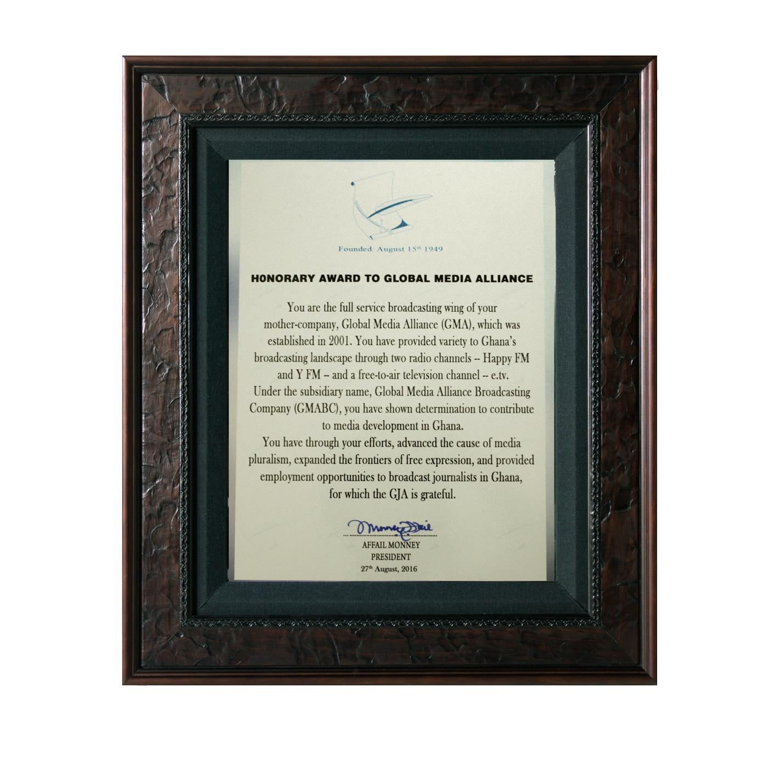 GMA Awarded for Media Development in Broadcasting