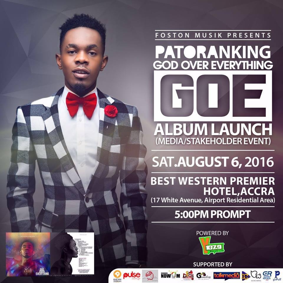 All set for Patoranking's God Over Everything media launch TOMORROW