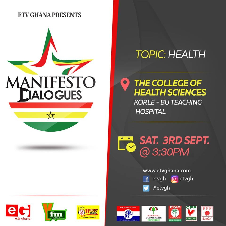 Maiden eTV Ghana Manifesto Dialogues Set To Come Off Today