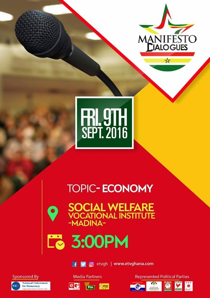 Maiden eTV Ghana Manifesto Dialogues Set To Come Off On Friday