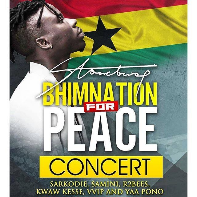 Sarkodie, Samini, R2bees for Stonebwoy's peace concert in Ashaiman this October