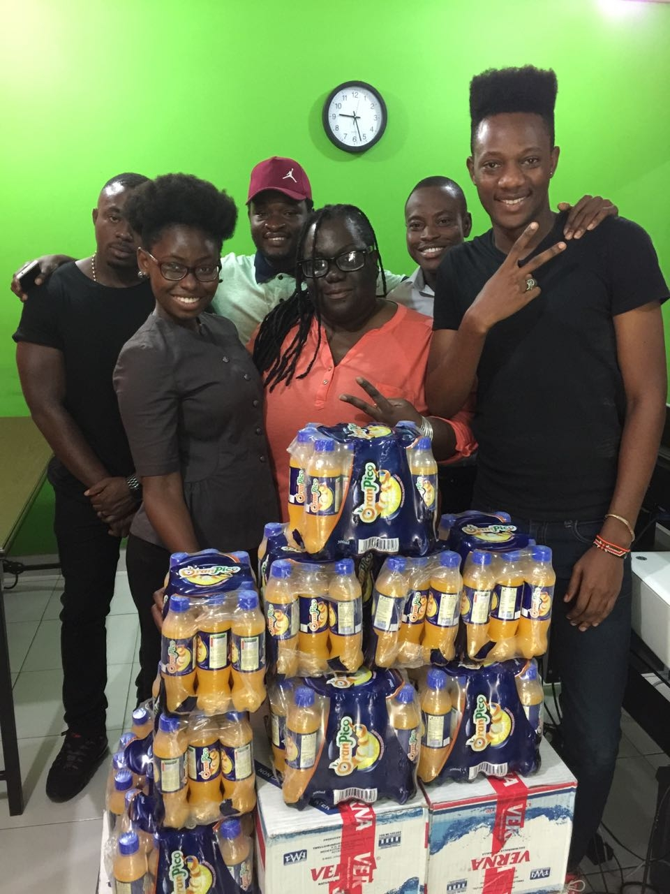 Twellium Industries presents YFM staff with early Christmas hamper!