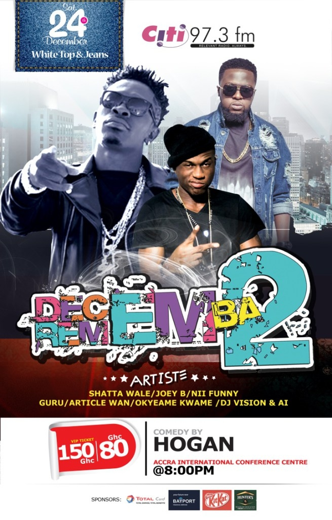 Citi FM announces list for performers for Decemba 2 Rememba #D2R2016