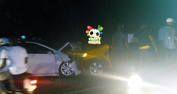PHOTO: Ghana Black Stars Player Involved in A Serious Car Crash on Boxing Day