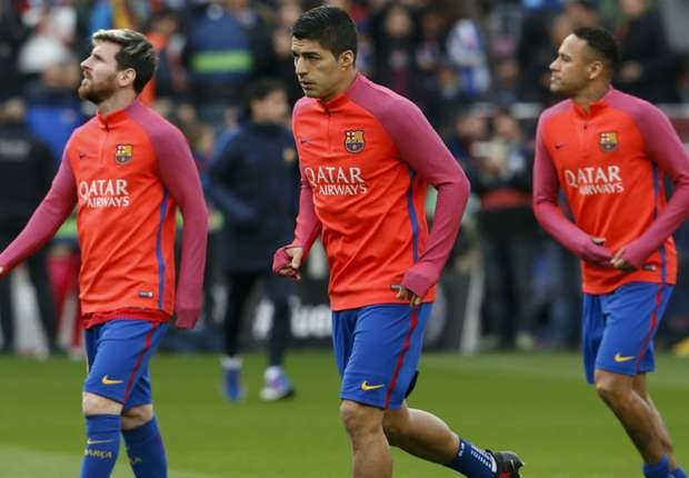 Messi, Suarez and Neymar get early Christmas break
