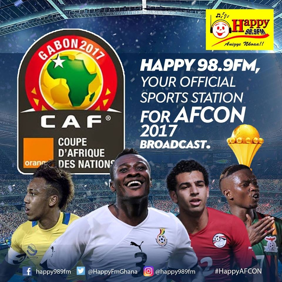 Happy FM To Broadcast AFCON 2017 Live on Giant Screens