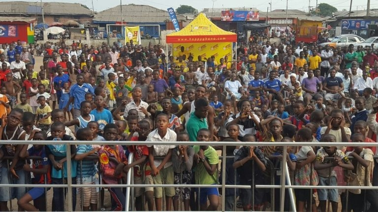 Happy FM Cowbell AFCON Train Thrills Bukom Fans