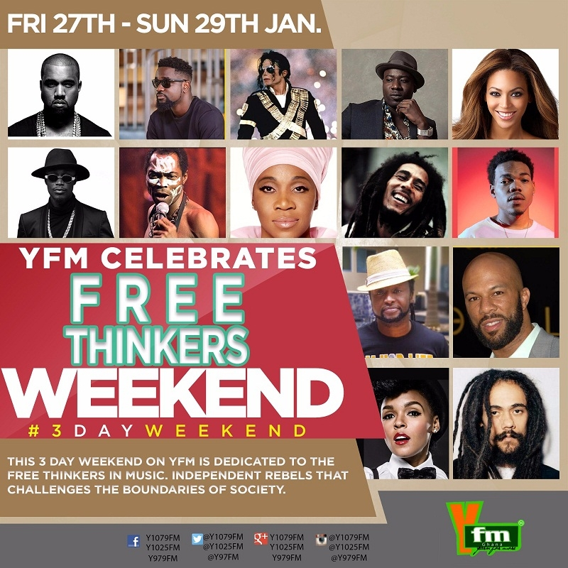 #3dayWeekend: YFM celebrating Sarkodie, Damian Marley and more on Free Thinkers Weekend