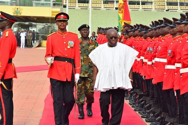 Akufo-Addo's first day at work at the Presidential Palace