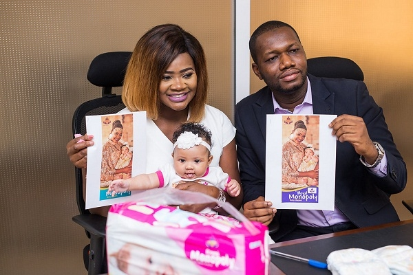 Kafui Danku's daughter becomes face of a diaper brand