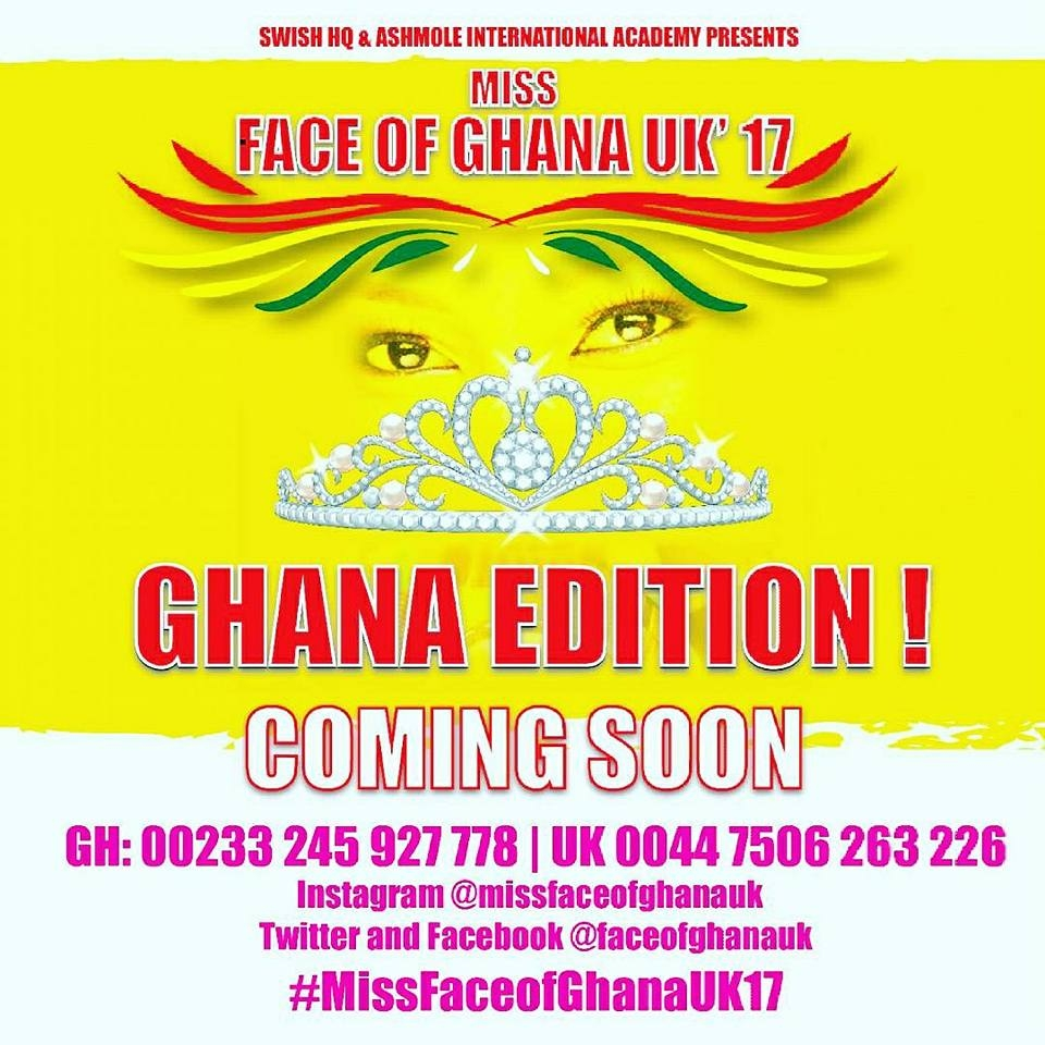 Ghana to experience Miss Face Of Ghana UK 2017