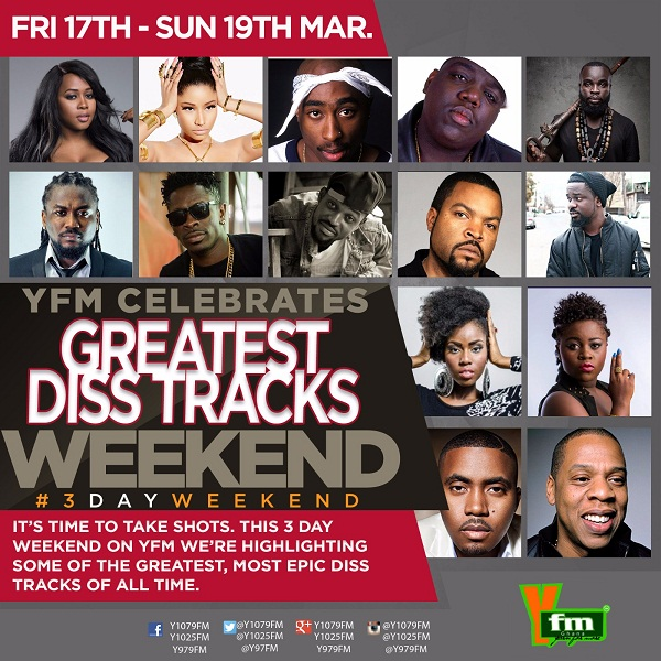YFM to Highlight the Greatest Diss Tracks this Weekend