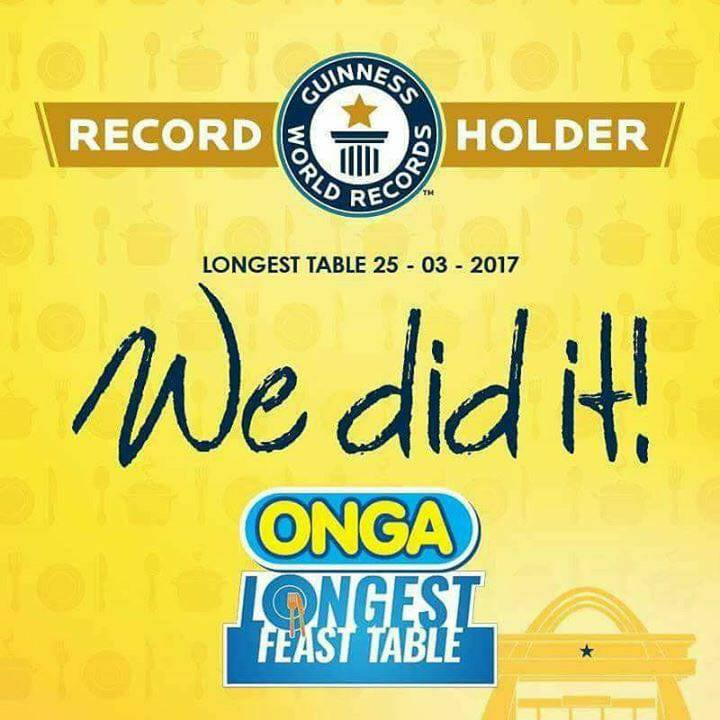 PHOTOS: ONGA breaks Guinness World Record for Longest Table in Ghana