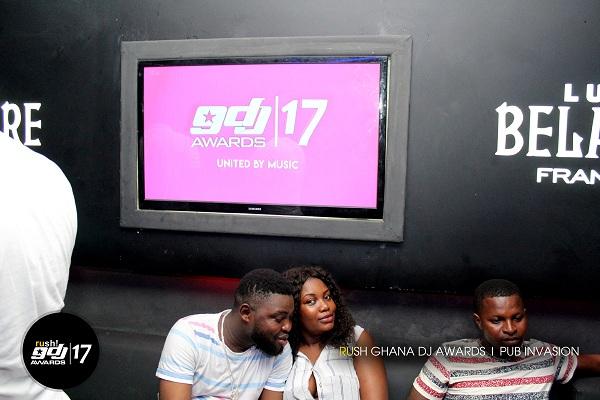 PHOTOS: Rush Ghana DJ Awards Pub Invasion at Paparazzi Lounge